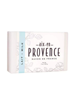 Aix en Provence Triple Milled Shea Butter Enriched French Soap Bar (200 g) - Milk