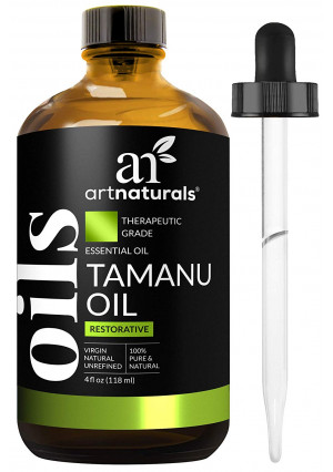 ArtNaturals 100% Pure Extra-Virgin Tamanu Oil  (4 Fl Oz / 120ml)  for Skin and Hair  Acne, Scars, Stretch Marks and Eczema - Relief for Dry Skin and Blisters