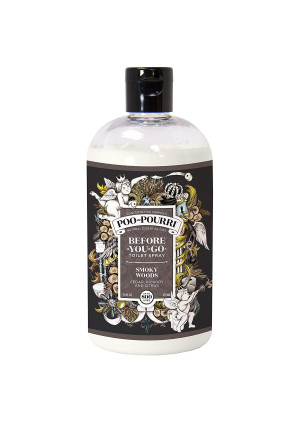 Poo-Pourri Before-You-Go Toilet Spray 16 oz Bottle, Smoky Woods Scent