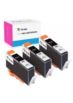 K-Ink Compatible Ink Cartridge Replacement for HP 564XL 564 XL Black (3 Big Black)