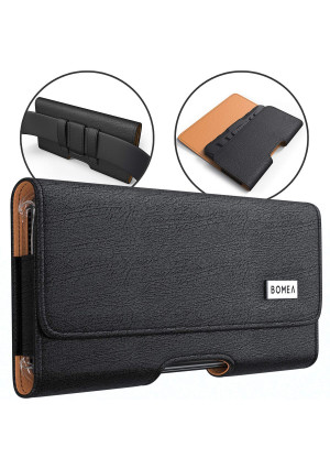 BOMEA Galaxy S9 Plus Galaxy S8 Plus Note 8 Belt Case, Premium Leather Belt Clip Case Holster Pouch Sleeve Phone Holder Samsung Note 8/S8+ / S9+ (Fits a Slim Hard Case Bumper Cover On) - Black