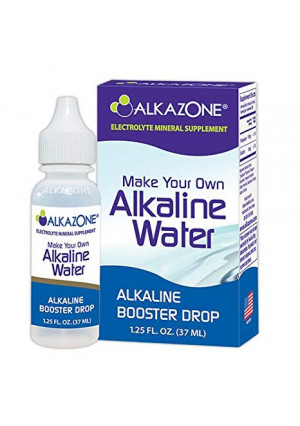 ALKAZONE Make Your Own Alkaline Water - Alkaline Booster Drop 1.25 oz/Single