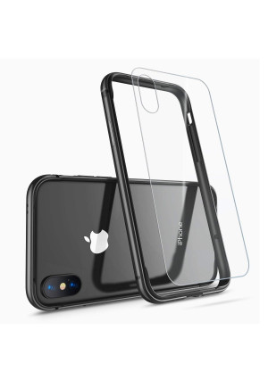 Humixx Aluminum TPU Hybrid Shockproof Bumper Case for iPhone Xs/iPhone X [Extre Series]-Jet Black