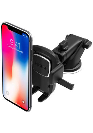 iOttie Easy One Touch 4 Dashboard and Windshield Car Phone Mount Holder for iPhone Xs Max R 8 Plus 7 6s SE Samsung Galaxy S9 S8 Edge S7 S6 Note 9 and Other Smartphone
