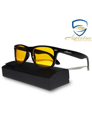 Aspectus Blue Light Blocking Glasses | Premium Gamer and Computer Eyewear | Anti-Blue Light Lenses for Deep Sleep and Relaxation | Eye Strain Relief Anti Glare Glasses | Computer Glasses for Men and Women