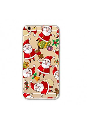 iPhone 6 Case, iPhone 6S Case,Christmas Gift Many Santa Claus Ultra Thin Clear Soft TPU Bumper Protective Back Case Anti-scratch Cover for Apple iPhone 6 iPhone 6S