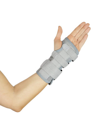 Wrist Brace by Vive - Carpal Tunnel Support - Left and Right Arm Compression Hand Splint - for Men, Women, Kids, Bowling, Tendonitis, Arthritis, Athletic Pain, Sports, Golf - Universal Adjustable Fit