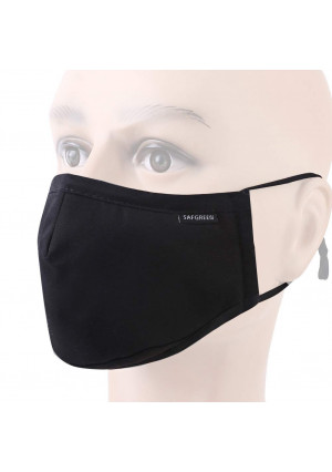Mask Can Be Washed Reusable - N95 Respirator Cotton Mask 5 Layer Activated Carbon Filter Insert Dust Mask Anti Pollution Mask Mouth Mask for Men Women (Black)