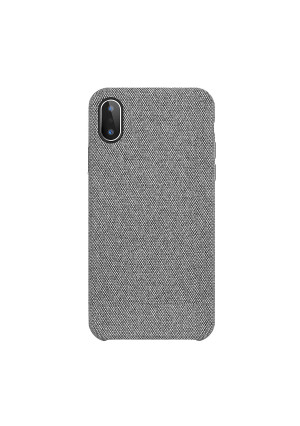 iPhone X Case, iPhone 10 Case Fabric Back Cover Protective Phone Case Supports Wireless Charging for Apple iPhone X/iPhone 10 5.8 inch (2018) - Grey