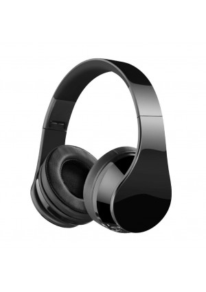 Bluetooth Headphones, Over Ear Bluetooth Headphones, Hi-Fi Stereo Wired and Wireless Headphones, Folding Lightweight Wireless Headset with Built-in Mic for Cell Phone/TV/PC-Black (Black)