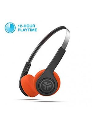 JLab Audio Rewind Wireless Retro Headphones   Bluetooth 4.2   12 Hours Playtime   Custom EQ3 Sound   Music Controls   Noise Isolation   with Microphone   Throwback 80s 90s Design   Black