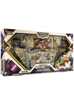Pokemon TCG: Forces of Nature GX Premium Collection   Collectible Trading Card Set   Features 2 Ultra Rare Foil Promos of Tornadus-GX and Thundurus-GX, 6 Booster Packs, Collectors Pin, Coin and More