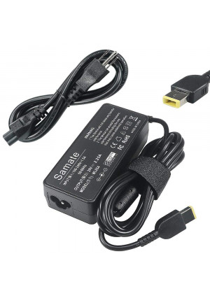 Samate 45W AC Adapter Laptop Charger for Lenovo ADLX45NLC3A ADLX45NCC3A ADLX45NDC3A ADLX45NCC2A ADLX45NLC2A 0B47030 0C19880 36200245 45N0289 45N0290-[20V 2.25A] (ADLX45NLC3A)