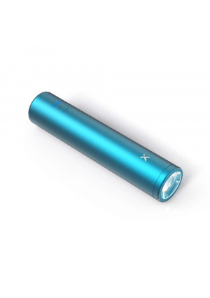 Xcentz xWingMan Solo Portable Charger, Ultra-Compact 3350mAh External Battery Pack, Pocket Sized Battery with Flashlight, Power Bank with X3 Protection Charging for iPhone, Samsung Galaxy and More(Blue)