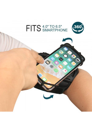 Armband phone holder for iPhone XR/iPhone XS/iPhone 8 Plus/iPhone 8/, Galaxy S8/ S8 Pl us/ S7 Edge, Note 8 5, Google Pixel, 360 Rotatable with Key Holder Phone Sports Armband
