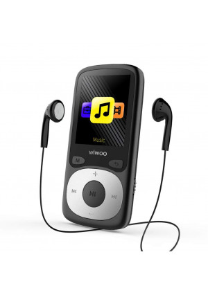 Aniee Portable MP3 Player, 16GB Lossless Sound Music Player with FM Radio Voice Recorder, Come with Headphone Armband, Expandable Up to 64 GB, Black