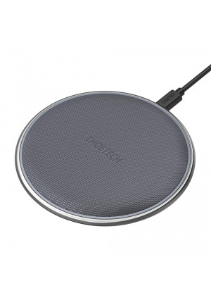 Wireless Charger, CHOETECH Qi Certified Zinc-Alloy and PU Ultra-Slim 7.5W Wireless Charging Pad Compatible iPhone XS/XS Max/XR/X/8/8 Plus,10W Compatible Samsung Galaxy S9/S8/Note 9, 5W All Qi-Enabled