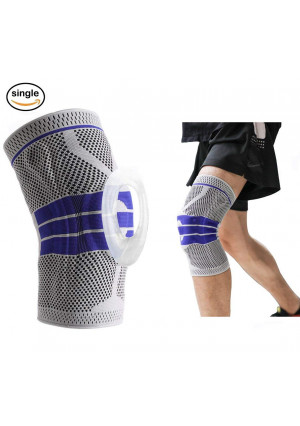 JOSMACO Knee Brace Support Compression Sleeves with Silicone Designfor Running, Pain Relief, Injury Recovery, Basketball and More Sports ...