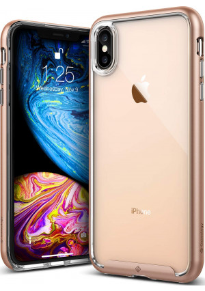 Caseology [Skyfall Series] iPhone Xs Max Case - [Clear Back/Premium Finish] - Gold