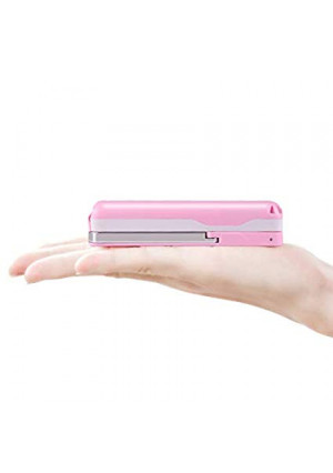MIABOO Selfie Stick Bluetooth, Extendable Mini Selfie Stick Small Size Lightweight Long Life Battery for iPhone Android Samsung and More (Pink)