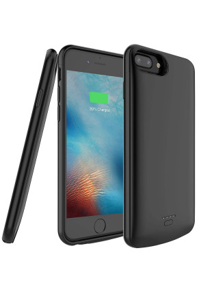 5500mAh Portable Charger Case for iPhone 6 Plus/6s Plus/7 Plus/8 Plus(Support Wired Earphones),Rechargeable Protective Extended Battery Pack Charging Case(for The Plus+ Size only,NOT for The Regular)