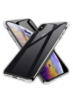 INGLE for iPhone Xs Max Case,Ultra [Slim Thin] TPU Silicone Soft TPU Protective case Cover  Clear
