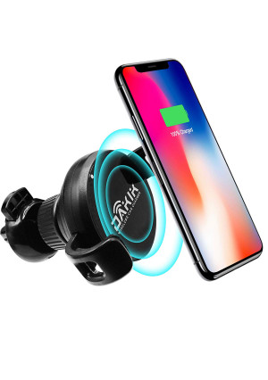OD Tech Wireless Car Charger - Car Wireless Charger for Apple iPhone X/8/8 Plus, Samsung Galaxy Note 8/S8/S8+/S7/S6 edge+/Note 5 and All QI-Enabled Devices UPGRADED 10W, Usb Car Charger