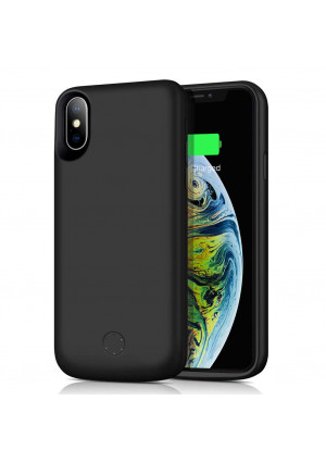 Ztesy Battery Case for iPhone Xs Max, 6000mAh Capacity Portable Charging Case Rechargeable Extended Battery Pack Protective Backup Charger Case Cover for iPhone Xs Max 6.5 Inch