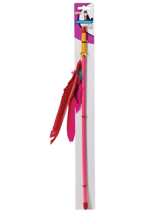 Ethical Feather Dangler Cat Toy on a 18-Inch Wand