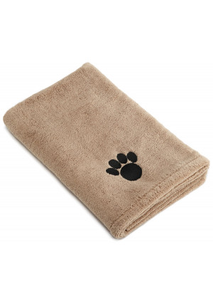 Bone Dry DII Microfiber Pet Bath Towel, Ultra-Absorbent and Machine Washable for Small, Medium, Large Dogs and Cats