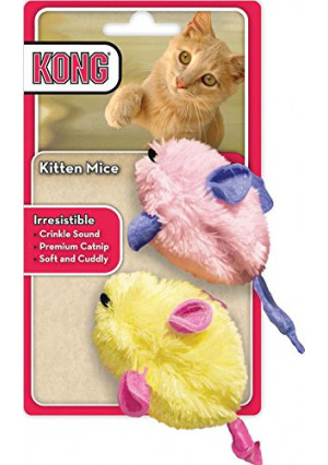 KONG - Kitten Mice (2 Pack - Assorted Colors)