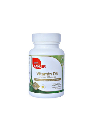 Zahler Vitamin D3 3000IU, All-Natural Supplement Supporting Bone Muscle Teeth and Immune System, Advanced Formula Targeting Vitamin D Deficiencies, Certified Kosher, 120 Softgels
