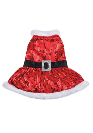 Zack and Zoey Mrs. Claus Sequin Dress