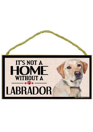 Imagine This Wood Sign for Yellow Lab Dog Breeds