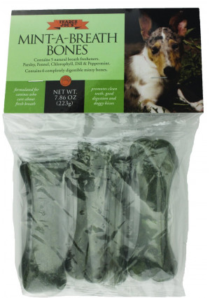 Trader Joe's Mint-A-Breath Minty Bones for Dogs (6 Bones)