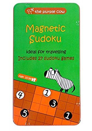 The Purple Cow- Sudoku. Magnetic Game Box for Kids and Adults. Solve Hard Puzzles and Master Your Mind.