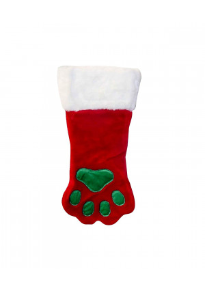 Outward Hound Christmas Paw Dog Stocking Holiday and Christmas Accessories for Dogs, Red