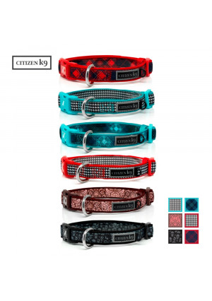 Buju Citizen K9 Dog Collar  Adjustable Large Medium Small xs Stays for Dogs and Cats  Durable Soft and Comfy Training Collars with Matching Leash Available  Male or Female - Pet Accessories