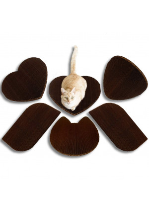 Americat Company Cat Scratcher and Lounger  Made in The USA  XL, Reversible, Heavy, Designed to Last  4 Shapes: Cat, Heart, Rectangular, Cornerstone