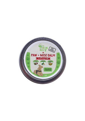 The Barking Muse Paw + Nose Balm Organic, All-Natural | Heals Cracked Dog Paw Pads and Dry Dog Noses | (2oz)