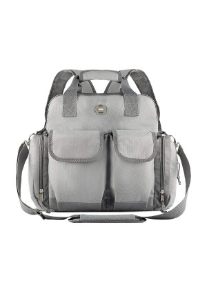 Baby Diaper Bag Backpack : Big Waterproof Nappy Bag for Mom and Dad  Stylish and Durable Baby Bag for Boys and Girls  Travel Tote  Adjustable Stroller Strap  Grey