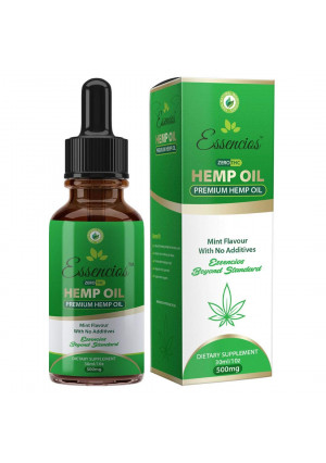 Hemp Oil for Pain Relief - Stress Support, Anti Anxiety, Sleep Supplements - Herbal Drops - Packed with Omega 3 Fatty Acids -1 Fl Oz. (30ml) 1 Month Supply