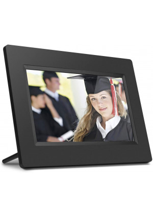 Aluratek 7 Inch LCD Digital Photo Frame with Auto Slideshow Using USB and SD/SDHC (ADPF07SF)  Black