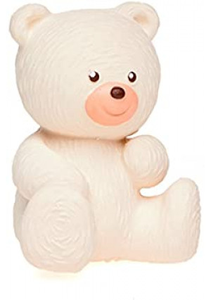 Lanco White Bear - Eco-Friendly Baby Play Toy, BPA Free 100% Natural Rubber, Safe Sensory Fun for Infants and Newborns