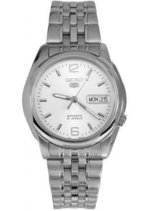 Seiko Series 5 Automatic White Dial Men's Watch SNK385