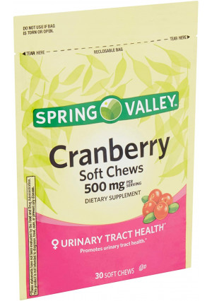 Spring Valley Natural Cranberry 500 Mg Soft Chews (30 Chews) by Spring Valley