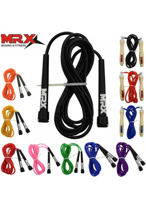 """MRX 9"""" PVC Jump Rope for Cardio Fitness - Versatile Jump Rope for Both Kids and Adults - Great Jump Rope for Exercise"""