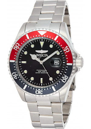 Invicta Men's Pro Diver Quartz Diving Watch with Stainless-Steel Strap, Silver, 22 (Model: 23384)