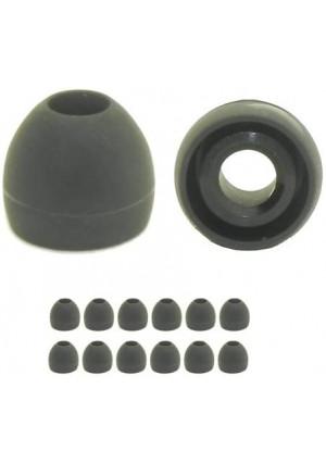 6 Pr Black Extra Small Ear Tips Earphones Plus Replacement Ear Tips for in Ear Earbud Earphones
