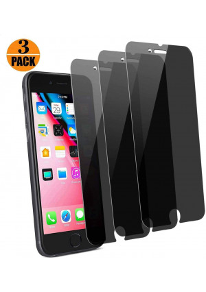 [3-Pack] pehael iPhone 8 Plus 7 Plus High Definition Privacy Screen Protector, Black Tempered Glass Screen Protector, Easy Install (5.5 inch)